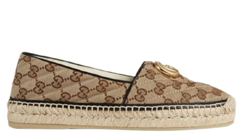 giay gucci beige women s gg matelasse canvas espadrille 621239 kqwm0 9765