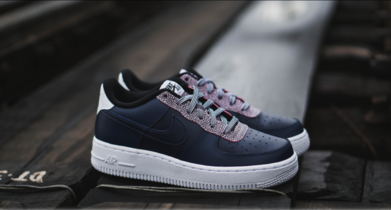 Nike Air Force 1 LV8 4 GS 'Pebble Print Midnight Navy' CN5715-400