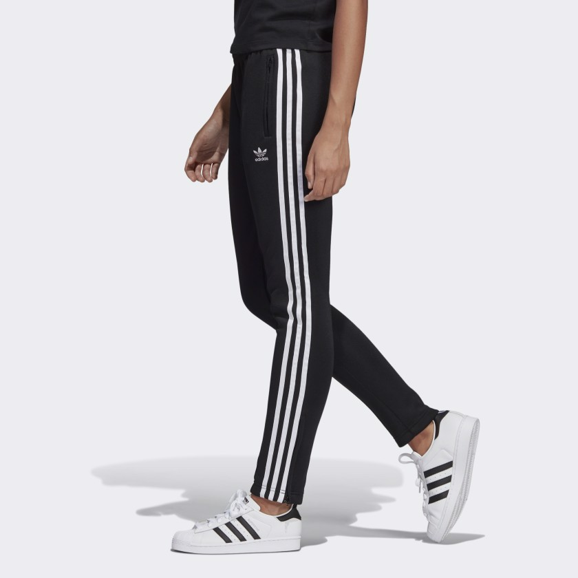 Quần Adidas Women's SST Track Pants in Black and White CE2400