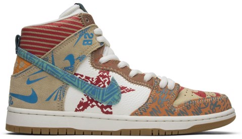 Nike Thomas Campbell x SB Dunk High 'What The'  918321-381