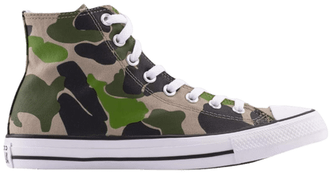 Converse Chuck Taylor All Star High 'Archival Camo' 166714C