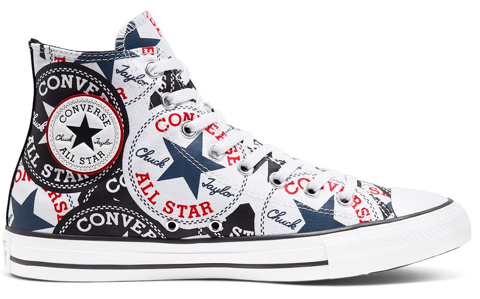 converse chuck taylor all star twisted classic logo play high black multiwhite 166985v