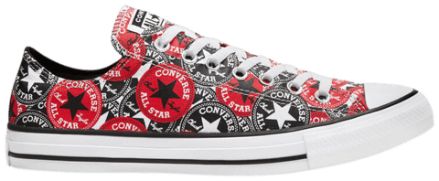 Converse Chuck Taylor All Star Low 'Allover Mix Logo Play' 166986F