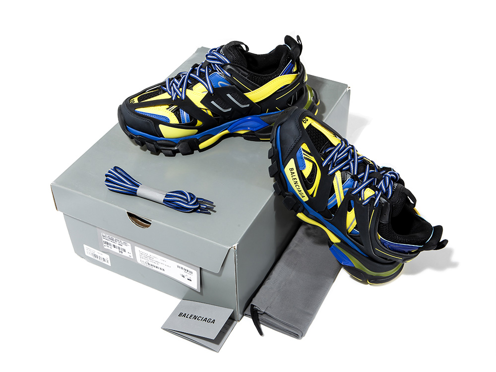 Giày Balenciaga Track Trainer Black Yellow Blue 542023-W1GC1-1080