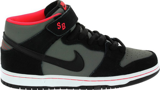 Giày Nike Dunk SB Mid Black Medium Grey 314383-018