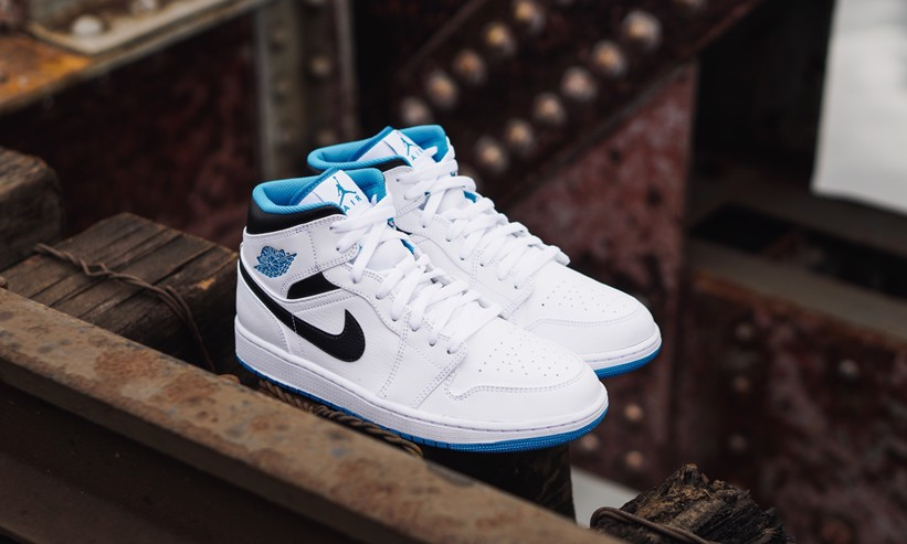 Nike Air Jordan 1 Mid Laser Blue 554724-141