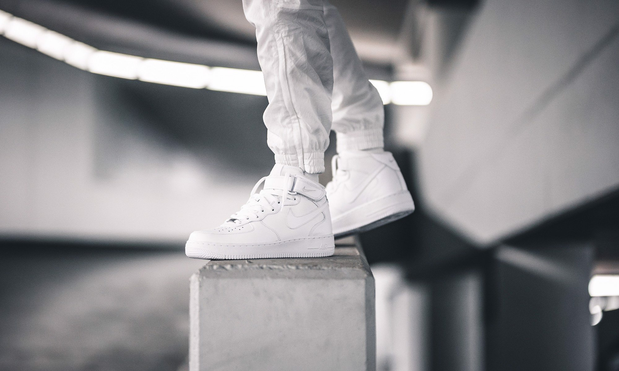 Nike Air Force 1 Mid 'All White' 07 315123-111