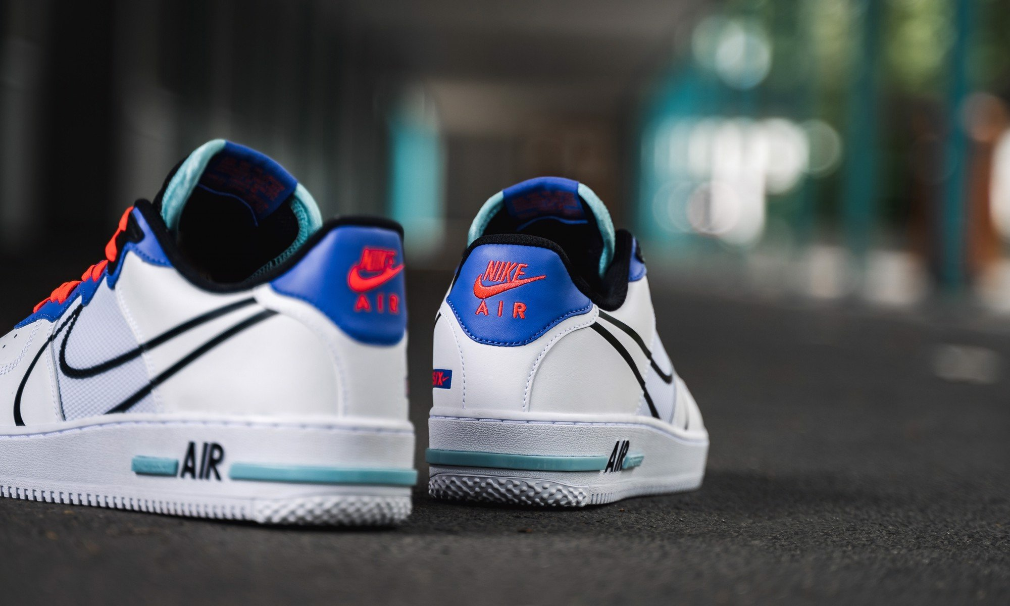 Nike Air Force 1 Low React White Astronomy Blue Laser Crimson CT1020-102