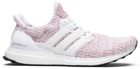 Adidas UltraBoost 4.0 'White & Scarlet Red' BB6169