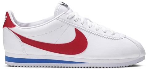 giay nike classic cortez leather white red 807471 103