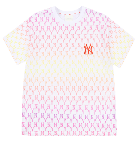 ao mlb monogram gradation biglogo overfit t shirts new york yankees 31tsmc131 50r