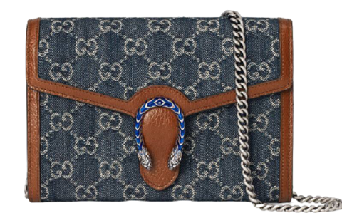 tui gucci dionysus mini chain bag blue 401231 2kqfn 4483