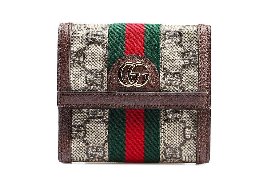 Ví Gucci GG Supreme Ophidia French Flap Wallet 523173 96IWG 8745