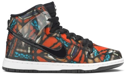 Nike Concepts x SB Dunk High 'Stained Glass' 313171 606