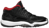 Giày Nike Air Jordan 11 Retro Low IE 'Black Charcoal Red' 2011 306008-001