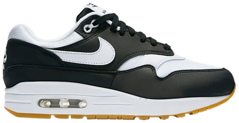 giay nike air max 1 black white gum 319986 038