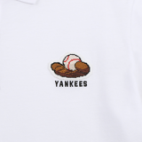 Áo MLB Play Pique Shirts New York Yankees 31TSQ1131-50W