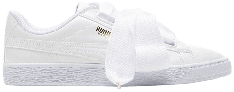 Puma Basket Heart Patent Leather White 363073-02