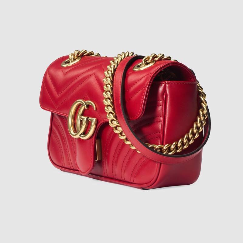 Túi Gucci GG Marmont Matelassé Mini Bag Red 446744 DTDIT 6433