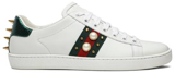 Giày Gucci Wmns Ace Studded 'White'  431887 A38G0 9064