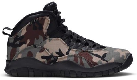giay nike air jordan 10 retro woodland camo 310805 201