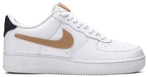 Nike Air Force 1 Low '07 LV8 'Removable Swoosh - White Vachetta Tan' CT2253-100
