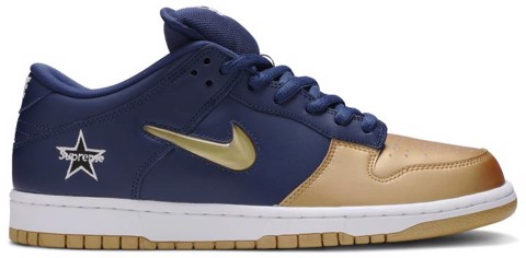 Nike Supreme x Dunk SB Low QS 'Metallic Gold' CK3480-700