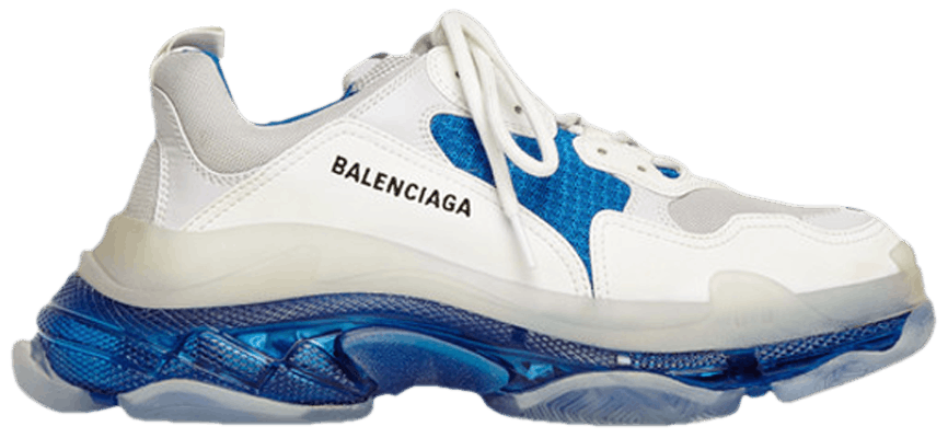 Giày Balenciaga Triple S Sneaker White Blue 541624 W09ON 9169