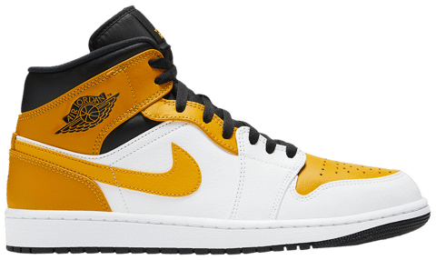 Nike Air Jordan 1 Mid 'University Gold' 554724-170