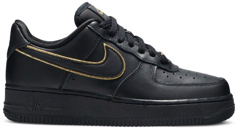 Nike Air Force 1 Low '07 Essential 'Black Gold Swoosh' AQ2132-005