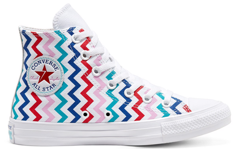 converse chuck taylor all star vltg back to earth hi top white red peonypink 567046v