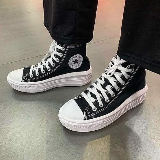 Converse Wmns Chuck Taylor All Star High Move 'Black White' 568497C