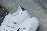 Adidas Superstar White Holographic Stripes F33889