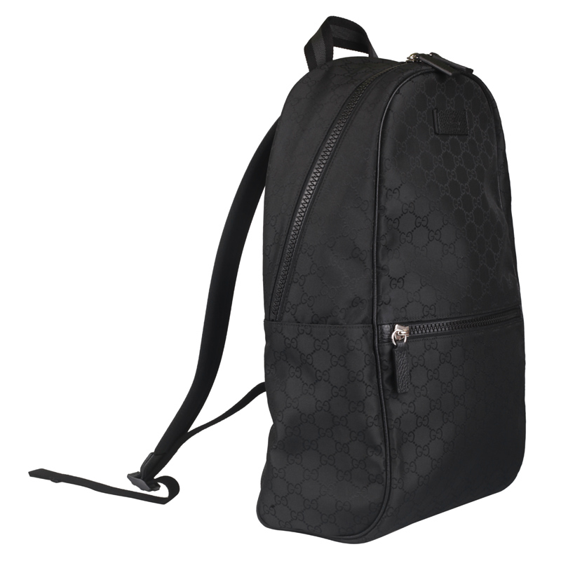Balo Gucci Outlet Backpack GG Pattern Nylon Black 449181 G1XYN 8615