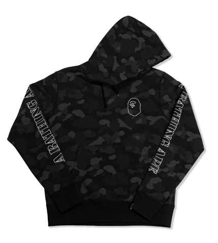 ao bape no windage hold off hoodie black camo bape149