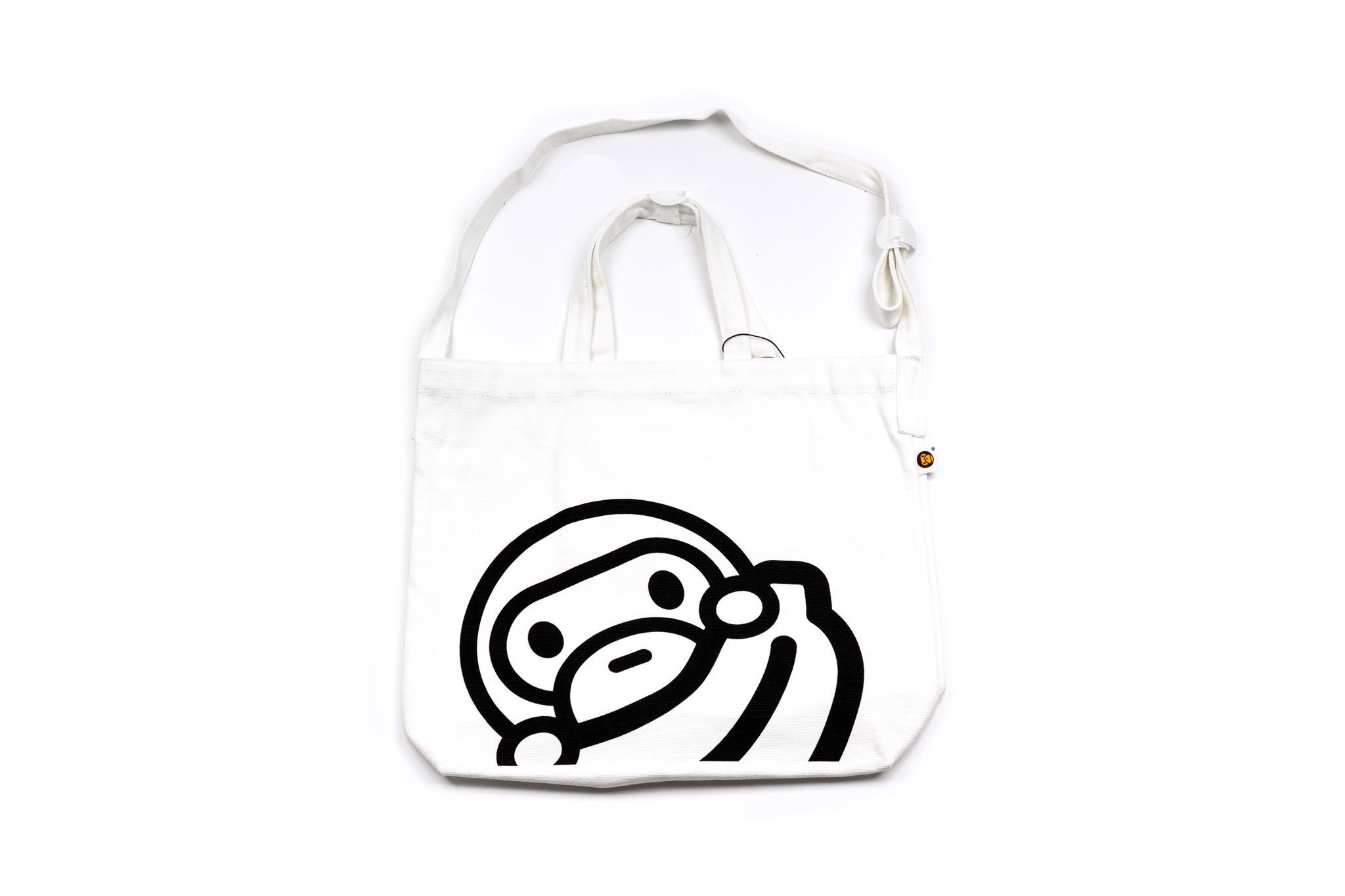 BAPE Shoulder Eco Tote 16OZ Canvas White