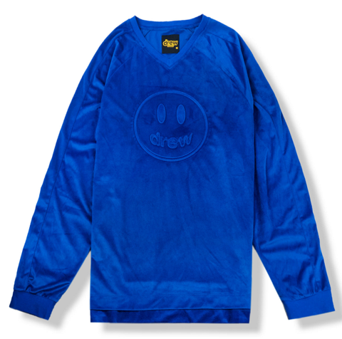 ao drew house mascot v neck ls tee golden blue