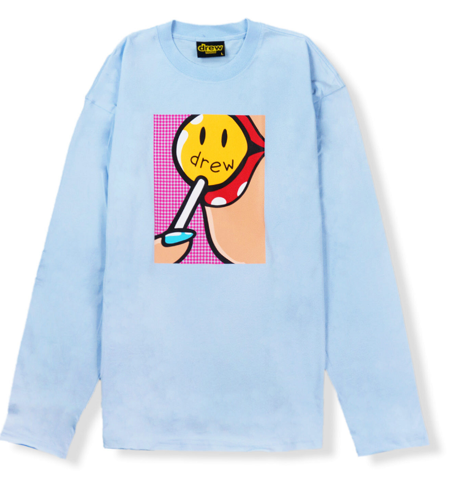 ao drew house lollipop ls tee light blue