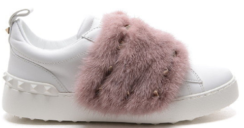 giay valentino mink fur sneakers nw0s0e11 uew 0eb