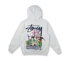 Stussy Spychedelic Hood Ash Heather 32916952252512