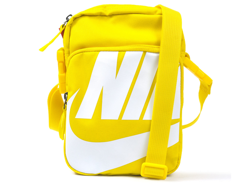 tui nike heritage 2 0 small item yellow white shoulder bag ba6344 735