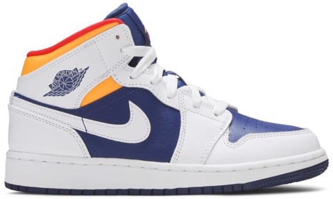 Nike Air Jordan 1 Mid GS 'White Deep Royal Blue' 554725-131