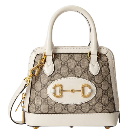 tui gucci horsebit 1955 mini top handle bag in gg supreme 640716 92tcg 9761