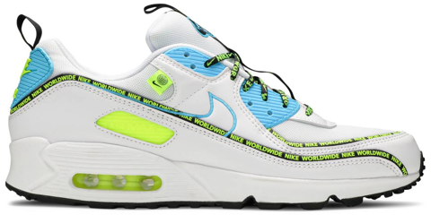 giay nike air max 90 se worldwide pack blue fury volt cz6419 100