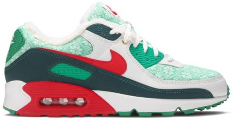 giay nike air max 90 christmas sweater dc1607 100