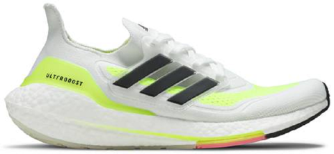 adidas ultraboost 21 white solar yellow fy0377