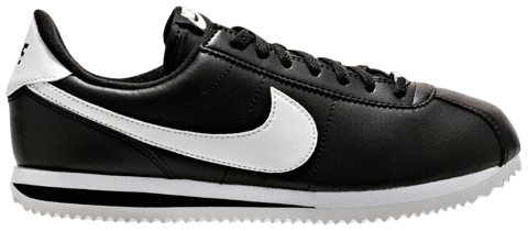giay nike cortez basic leather black white 819719 012