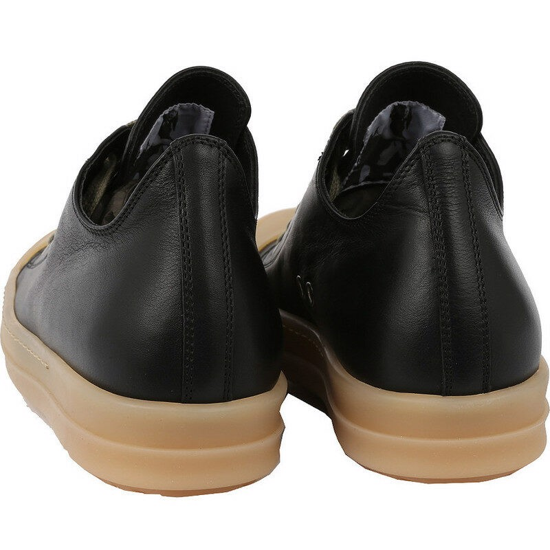 Rick Owens Ramones Low 'Black Leather' Natubal RP18S8881