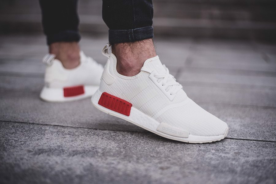 Adidas NMD R1 Off White 'Lush Red' B37619