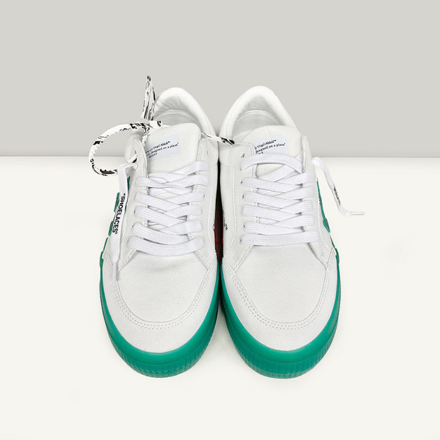 Giày Off-White Vulc Sneaker Low 'White Green' OMIA085R21FAB001-0155